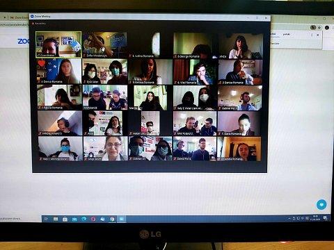 spotkanie online uczestników projektu